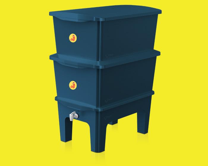 Render Azul da Composteira Humi (Morada da Floresta)