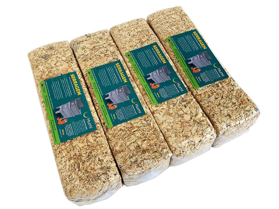Kit 4 Pacotes de Serragem para compostagem