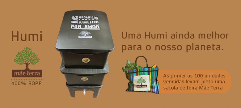 As 100 primeiras composteiras vendidas levarão uma Sacola de Feira da Mãe Terra de presente!